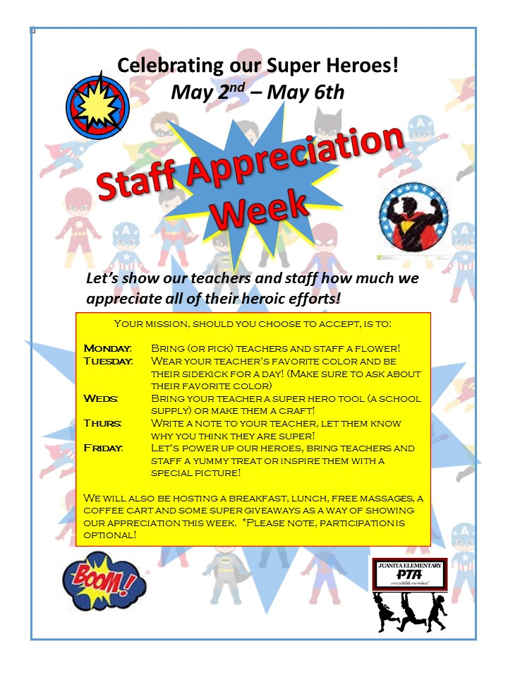 Staff Appreciation Week  - Flyer