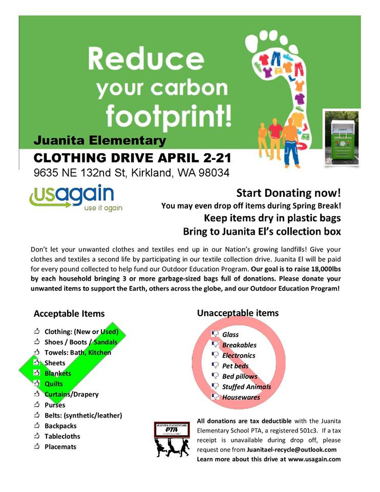 Clothing Drive Event - Collection at School